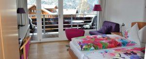 Balcony room wit wooden floor
