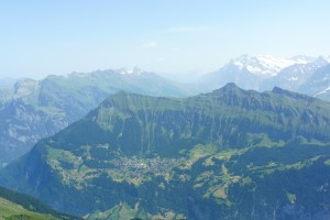 View to Wengen from Bietenhorn